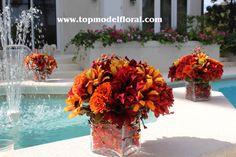 Fall Floral Arrangements | Floral Arrangements Around The Jacuzzi