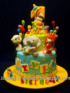 Animals birthday cake