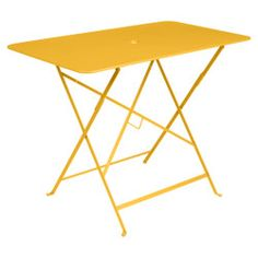 Fermob Bistro Rectangular Folding Table Color: Honey, Size: H x W x D The Bistro, French Bistro, Table Color, Portable Bar, Rectangle Dining Table, Steel Table, Thing 1, Outdoor Tables, 5 W