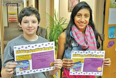 From left, James Gibeau-Robberson and Cinthia Rubio-Hernandez, both seventh grade students, were named students of the month for the month of December. They were elected as students of the month by their teachers on one or more of the following: grades, behavior, character, attendance, class participation, extracurricular activities and community involvement.