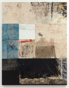 Oscar Murillo - untitled 2013, Oil paint, oil stick, dirt, 225 x 175 cm