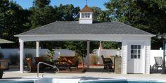 Small Pool Houses, Modern Pool House, Simple Pool, Pool House Designs, Backyard Bar, Backyard Privacy, Backyard Ideas, Pool House Plans, Pavilion Design