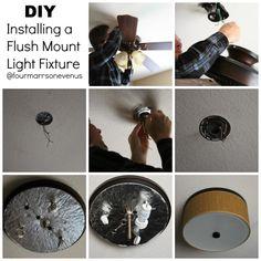 Shock alert on pinterest light fixtures ceiling fans for How to install a flush mount ceiling light youtube