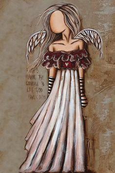 Art Vampire, Angel Artwork, Angel Drawing, Angel Warrior, Angel Pictures, Whimsical Art, Painting Inspiration, Canvas Art Prints, Fantasy Art