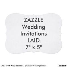 """LAID 100lb 7""""x5"""" Bracket Shape Wedding Invitations"""
