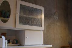 minimal concrete lamp