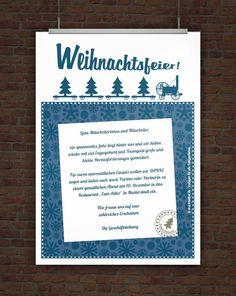 © Druckeselbst! Kostenlose Einladung Weihnachtsfeier Mehr