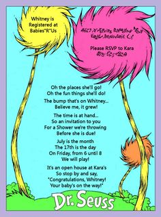 love the wording on this dr. suess invite.