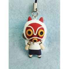Keychain & Mobile accessorioes,colgante de movil,llavero,princess,anime,manga,miyazaki,mononoke,polymer clay,sam