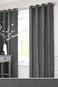 Next Cotton Eyelet Lined Curtains Grey Curtains In 2019 inside measurements 1800 X 2700 Next Bedroom Blackout Curtains - Room curtains are crucial in a Blackout Eyelet Curtains, Lined Curtains, Diy Curtains, Curtains With Blinds, Cotton Curtains, Roman Curtains, Layered Curtains, French Curtains, Short Curtains