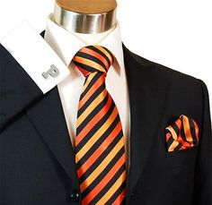Princeton pride is shown in a classy and subtle way when you add a pair of spirited cufflinks to your formal look.