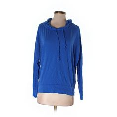 Pre-owned C&C California Pullover Hoodie Size 4: Blue Women's Tops ($29) ❤ liked on Polyvore featuring tops, hoodies, blue, hooded pullover, blue hoodies, pullover hoodie, hoodie pullover and pullover tops