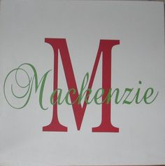 Personalized Initial and Name Vinyl Lettering Board Sign