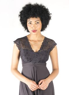 Lace Strap Maxi - Anthracite - SPECIAL OCCASION - DRESSES