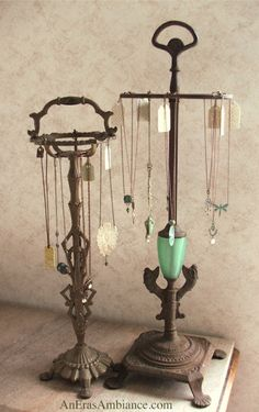 """""""Upcycled Jewelry Displays,"""" from An Eras Ambiance blog."""