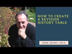 How to Design a Document Revision History Log