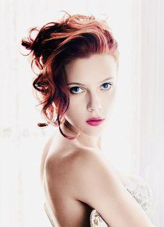 Scarlett Johansson in Alexander McQueen photographed Mario Sorrenti for Vanity Fair, December 2011.