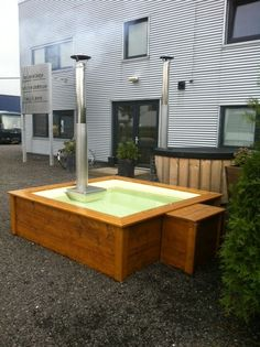 Speurders.nl: Lounge Bath, Aluminium hot tub vierkant hottub Patio, Swimming Pools, Tube, Lounge, Garden, Outdoor Decor, Home Decor, Standing Bath, Wood Creations