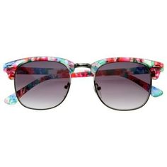 Floral Clubmaster Sunglasses