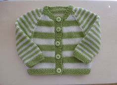 Ravelry: Plain or Striped Baby Classic Cardigan pattern by Glenwell Associates Ltd.