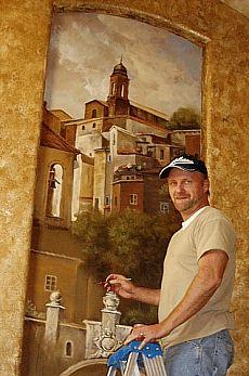 Italian Murals, Frescos, Faux Finishes