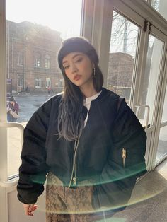 daily 2018 F/W style Asian Street Style, Korean Street Fashion, Asian Fashion, Winter Fashion Outfits, Fashion Wear, Girl Fashion, Girl Korea, Asia Girl, Ulzzang Fashion