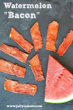 "Watermelon ""bacon"" - dehydrated spiced watermelon."