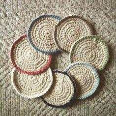 hayleyarious crochet coasters