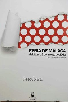 I'm not sure whether I pinned this for the graphic design, or because I miss my beautiful childhood summer days in Malaga.. and the feria de Malaga!