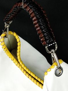 Marni Handbag - Marni White Leather Stitch Shoulder Bag - Designer ...