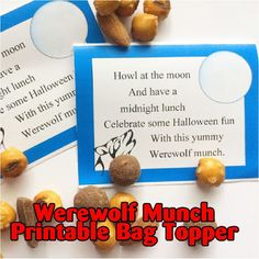 Enjoy some Werewolf Munch this Halloween with these fun printable bag toppers. They are so easy to print, cut and put together that you can give them to everyone who comes Trick or Treating this year, or keep them for the sexy wolf shifter who comes prowling by.
