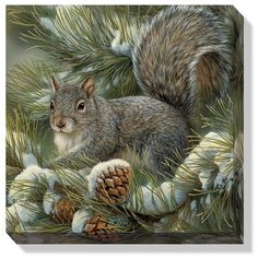 This wrapped canvas features original art by Rosemary Millette and offers the look and feel of an original wildlife painting at a reasonable price. This breathtaking canvas arrives ready to hang unfra