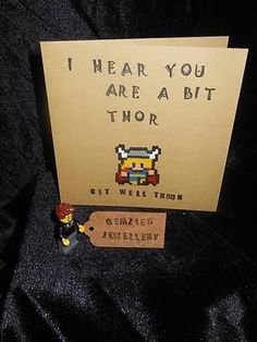 Thor (Avengers) Get Well Soon Card