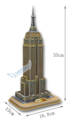 Education toy the Empire State Building 3d jigsaw puzzle assembly model paper famous building game creative children gift 1 pc