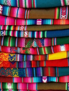 Peruvian Textiles, Inca, Color Combos, Color Patterns, Pattern Design, Creations, Weaving, Rainbow, Photos