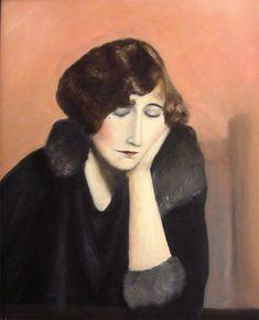 Portrait of Sidonie-Gabrielle Colette by Hungarian artist,  Shoshana Kertesz