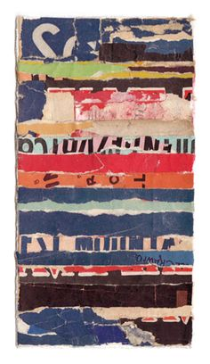"""Intermezzo-66,"" a collage by Lisa Hochstein, made from salvaged paper"