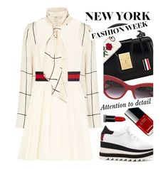 """""""NYFW"""" by ivansyd ❤ liked on Polyvore featuring Thom Browne, Casetify, Smashbox, Dolce&Gabbana, STELLA McCARTNEY, Tory Burch, Gucci, NYFW and nyfwfashion"""