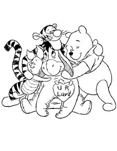 Valentines Day Hug Coloring Page