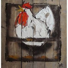 Afbeeldingsresultaat voor getekende kippen op stok