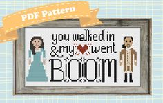 Hamilton Cross Stitch Pattern My Heart Went by SweetPrairieSkies