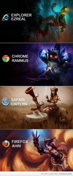 MIND. BLOWN. League of Legends Browser Wars.