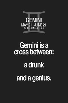 Zodiac Mind - Your source for Zodiac Facts, This is funny as hell Gemini Compatibility, Gemini Traits, Gemini Life, Gemini And Libra, Gemini Woman, Zodiac Signs Gemini, Zodiac Mind, Zodiac Facts, June Gemini