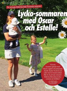 "ohtheroyalchildren: "" Swedish Royal Family Princess Estelle and Prince Oscar enjoying summer with their mum All photos """
