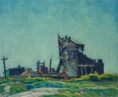 Industrial Building by Franklin Carmichael Tom Thomson, Emily Carr, Canadian Painters, Canadian Artists, Art Inuit, Franklin Carmichael, Group Of Seven Paintings, Industrial Paintings, Jackson