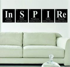 Inspire Periodic Table Science Design Decal Sticker Wall Vinyl Decor Art Home - boop decals - vinyl decal - vinyl sticker - decals - stickers - wall decal - vinyl stickers - vinyl decals