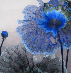 Silk Embroidery -Susho- Flower by Queen Silk art