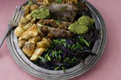 EASTER DINNER: Recipe for orange and mint-stuffed lamb with sweet-and-sour cabbage - The Washington Post
