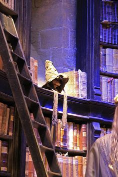 Sorting hat at rest in Dumbledore's office