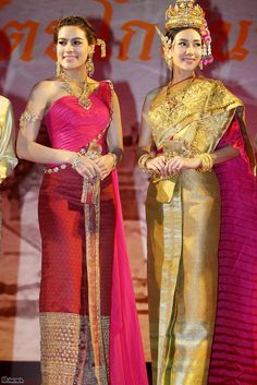 two lady in thai dress